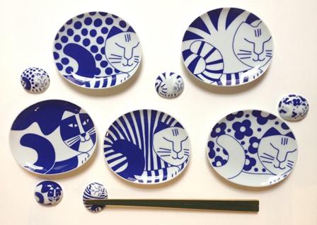 ごのねこ豆皿+箸